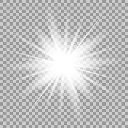 벡터 투명 배경에 조명 효과 빛나는. 일러스트