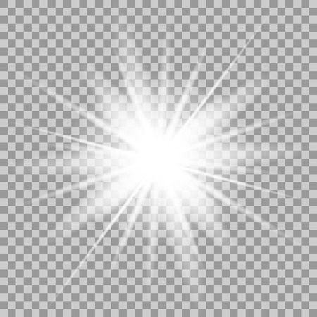 light effect: Vector glowing light effect on transparent background.