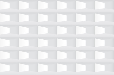 white tile: White tile 3d geometric texture - a seamless vector background.