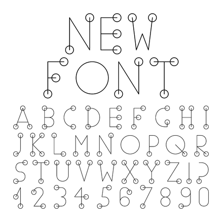 numerals: Vector alphabet set with numerals.Vector alphabet set with numerals.