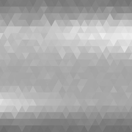 shine background: Silver metal background. Gray mosaic triangles. Vector illustration does not contain gradient and transparency. Illustration
