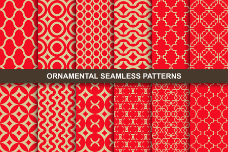 Collection of rich ornamental seamless vector patterns.