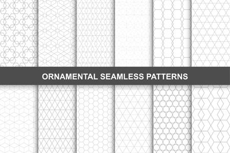 Collection de vecteur d'ornement géométrique modèles sans couture dans le style vintage.