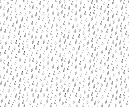 absract art: Drops Hand drawn seamless vector pattern. Stock Photo