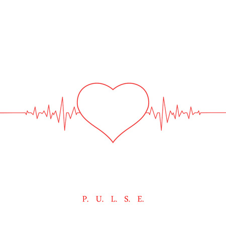 heart beat: Heart beat pulse background. Valentines day