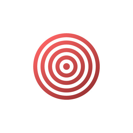 Target icon - vector background. Illustration