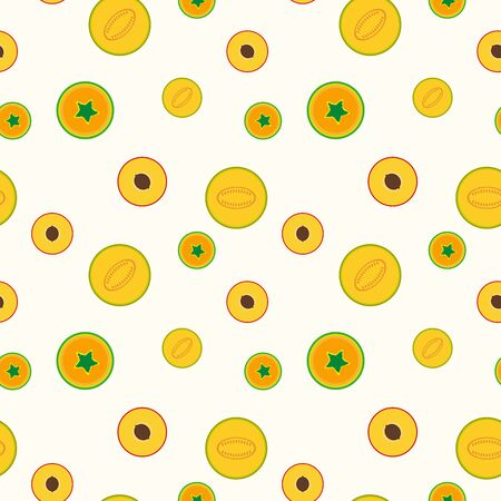 Simple fruits pattern - seamless vector background. Tropical mix.