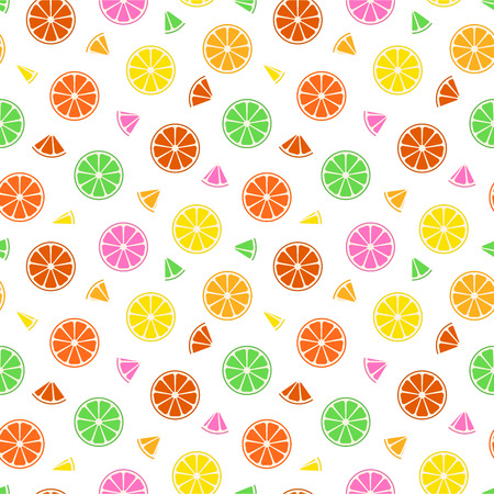 Colorful fruit pattern - a seamless summer background.