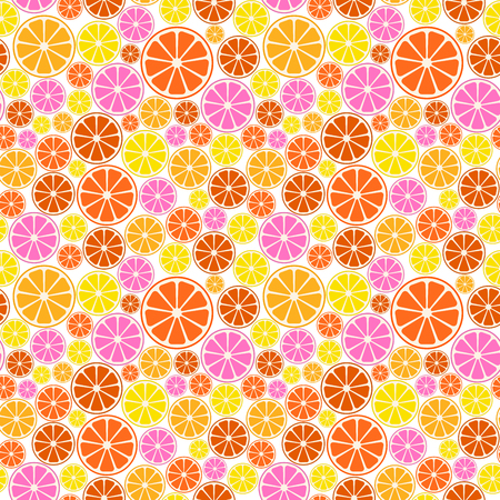 Colorful fruit pattern a seamless summer background.