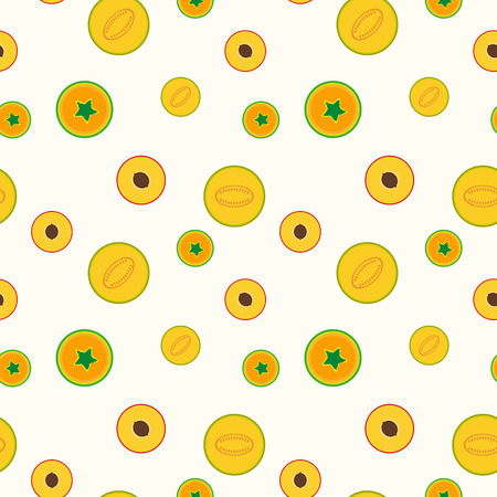 Simple fruits pattern - seamless. Illustration