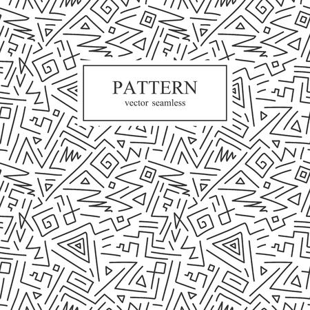 Seamless geometric pattern in memphis style.Hand drawn Illusztráció