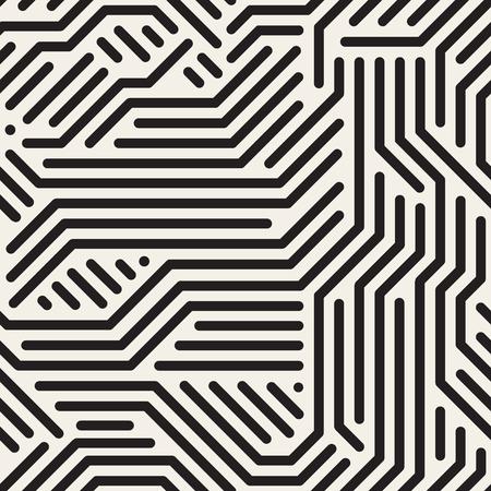Striped seamless geometric pattern. Digital background. Ilustração