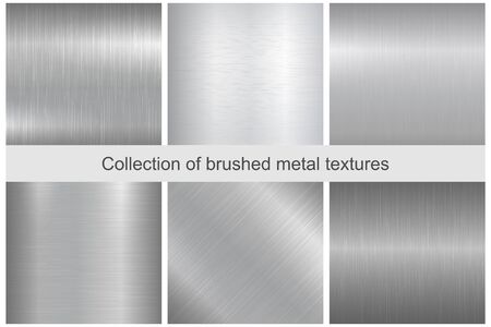 polished: Collection of polished metal textures. Stock Photo