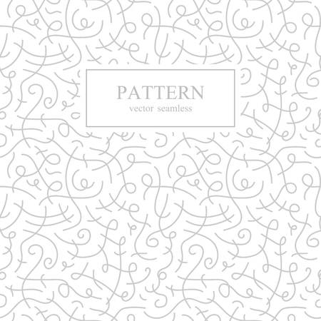 squiggles: Curve seamless pattern. Retro fashion.