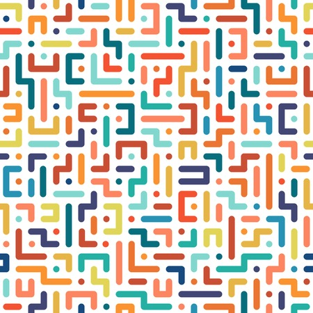 Color seamless geometric pattern. Vector background.