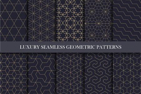 Motivi ornamentali senza soluzione di continuità di lusso - ricco design geometrico. Archivio Fotografico - 81236893