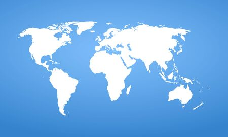 World map. Vector detail design. Template for your design and ideas. Illustration