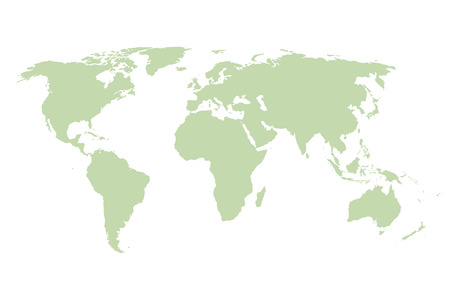 education concept: World map. Vector green template. Illustration