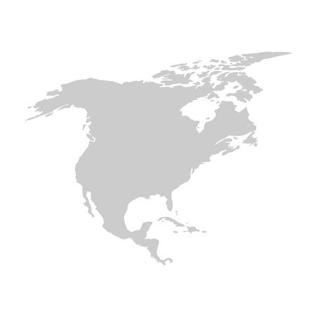education concept: North america continent. Gray vector template. Illustration