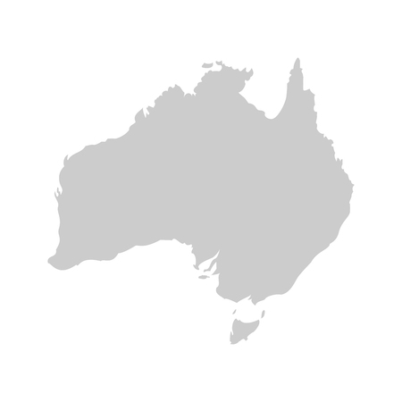 education concept: Australia continent. Gray vector template.