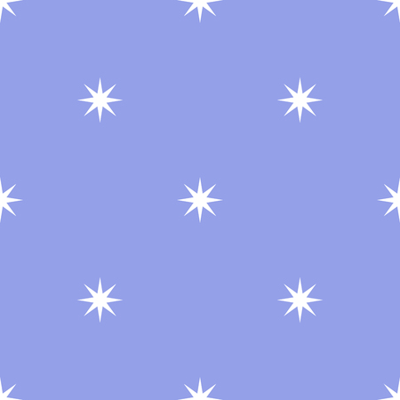 Vector seamless pattern with stars on a blue background. Simple minimalistic design