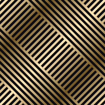 Motif à rayures géométriques diagonales vectorielles - design dégradé d'or de luxe sans couture. Riche fond sans fin. Texture brillante reproductible. Vecteurs