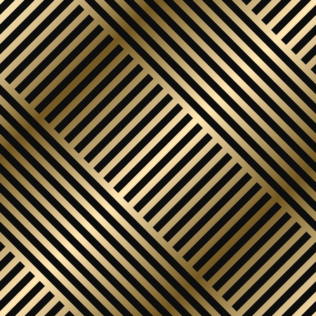 Vector diagonal geometric striped pattern - seamless luxury gold gradient design. Rich endless background. Repeatable bright texture. Vektorové ilustrace