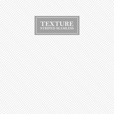 Striped wave seamless background. Wavy repeatable geometric pattern - gray diagonal design. Similar to fabric texture.