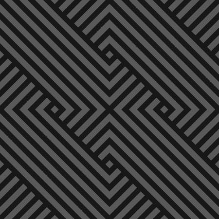 Vector seamless abstract geometric pattern - dark gray striped texture. Endless linear background. Creative monochrome design.