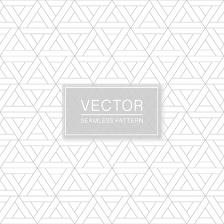 Abstract seamless geometric pattern - creative triangle white and grey texture. Decorative monochrome background Ilustrace