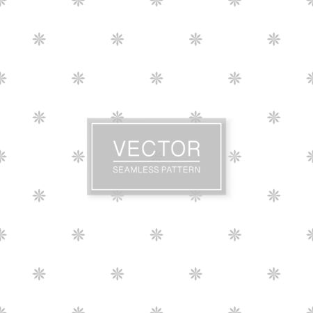 Stylish seamless floral pattern - simple minimalistic design. White and grey decorative texture. Abstract delicate background Ilustrace