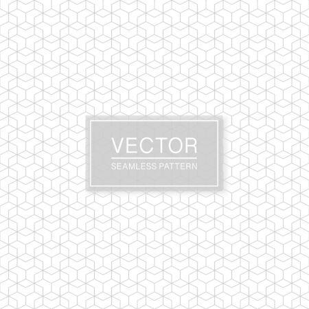 Creative seamless hexagonal pattern - delicate grid ornamental design. Geometric oriental background.