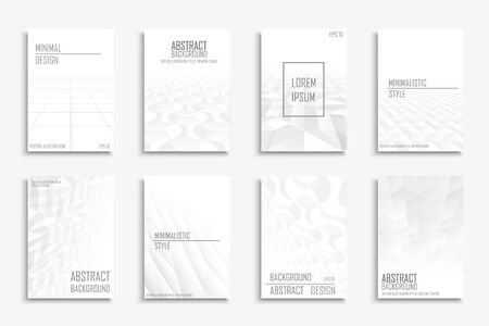 Collection of vector abstract contemporary templates, covers, placards, brochures, banners, flyers, backgrounds.