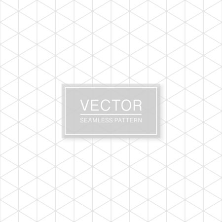 Simple seamless geometric triangle pattern - minimalistic polygonal design. Grid white and grey texture