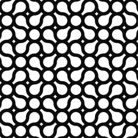Seamless geometric pattern - modern black and white stylish texture with creative shapes. Simple graphic design Ilustrace