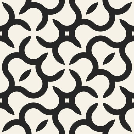 Vector seamless geometric pattern with creative shapes. Endless monochrome background