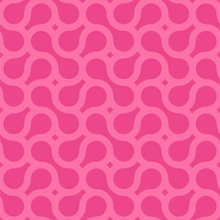 Seamless weave geometric pattern with creative shapes. Pink endless background. Modern repetitive design - bright texture