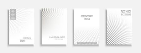 Collection of vector abstract contemporary templates, covers, placards, brochures, banners, flyers, backgrounds and etc. White futuristic creative 3d design