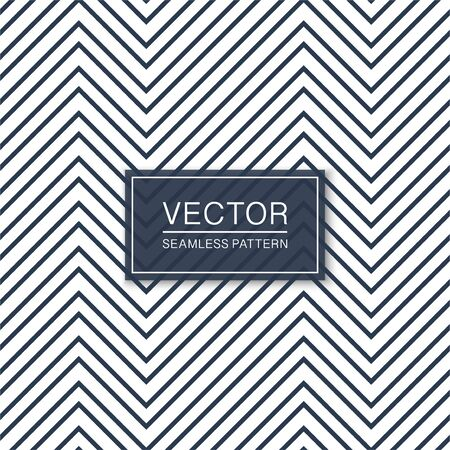 Simple seamless zigzag pattern. Blue and white geometric texture - vector minimalistic background Ilustrace