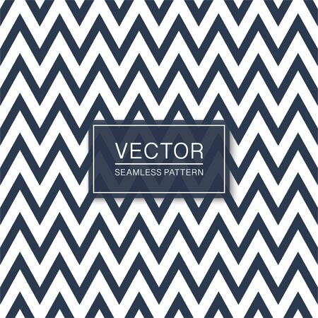 Vector seamless zigzag pattern - trendy design. Geometric striped background. Blue and white chevron texture