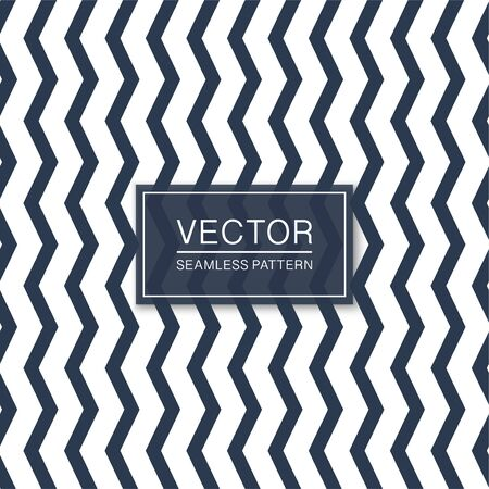 Seamless vertical zigzag pattern - striped blue and white texture. Simple vector background