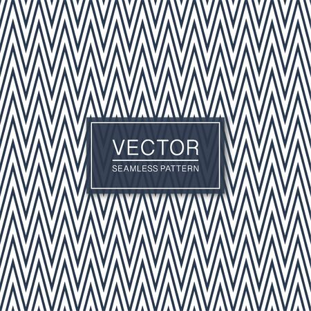 Stylish seamless zigzag pattern - trendy design. Geometric striped background. Blue and white chevron texture Ilustrace