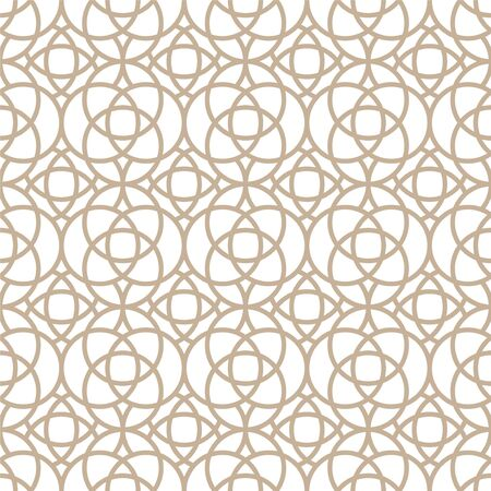 Vector seamless oriental pattern - simple geometric design. Abstract trendy eastern symmetric background. Creative luxury gold arabic texture Ilustrace