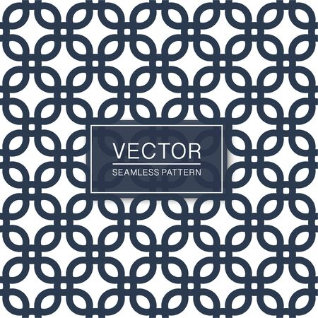 Vector seamless geometric pattern - blue and white repeatable texture. Symmetric design - minimalistic endless background Ilustrace