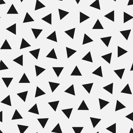 Vector seamless simple pattern. Modern stylish texture with randomly disposed triangles. Repeating abstract textile background. Trendy hipster print