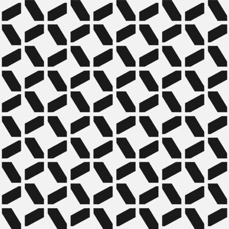 Vector seamless geometric pattern. Modern ornament texture. Repeating abstract monochrome background with creative polygonal shapes Ilustrace