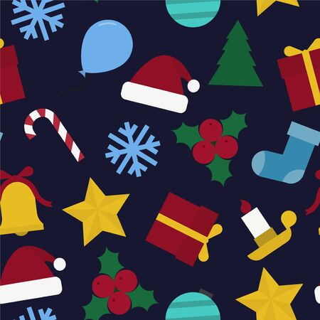 Christmas seamless colorful pattern - Christmas retro design. Abstract festive background. Can be used as wrapping paper, covers, wallpaper and etc.
