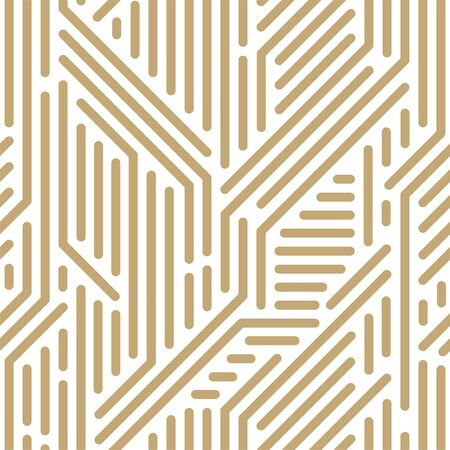 Abstract seamless geometric pattern - striped design. Trendy digital background, endless gold texture