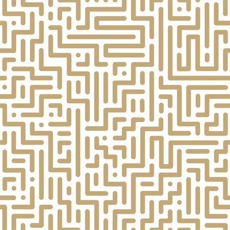 Vector seamless geometric pattern - striped design. Trendy digital background, endless gold texture