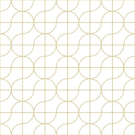 Vector seamless geometric outline simple pattern. Thin grid linear texture. Abstract minimalistic background. 向量圖像